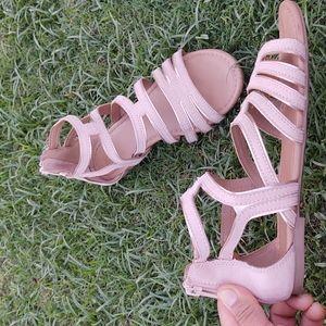 SO Gladiator Sandals dusty pink sz 8 women's